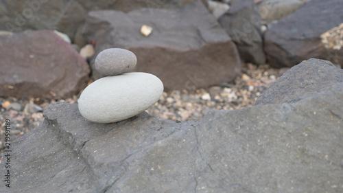 Photo sur Plexiglas Zen pierres a sable Steine in Balance