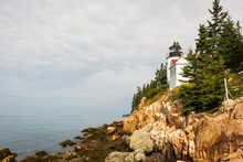 Bass Harbor Head Lighthouse In Maine