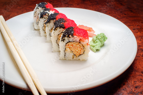 Fotografie, Obraz  Spicy Crab Sushi Roll
