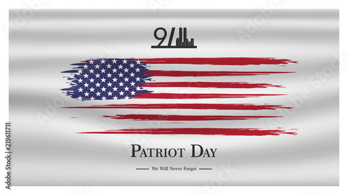Fotomural Patriot day USA Never forget 9