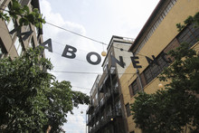 The Maboneng Area Street Sign In Johannesburg. South Africa's Hippest Areas.