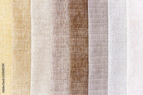 Tuinposter Stof Rolls of fabric and textiles in a shop or store
