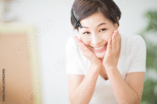 Valokuva  洗顔・女性