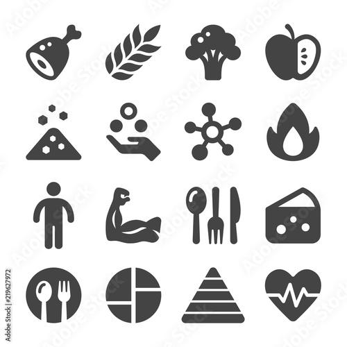nutrition icon set Canvas Print