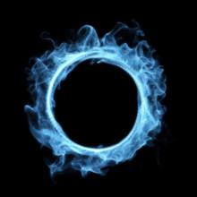 Blue Smoke Magic Glowing Portal
