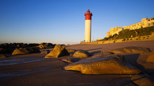 The Umhlanga Lighthouse Standing Tall In The Early Morning Sun