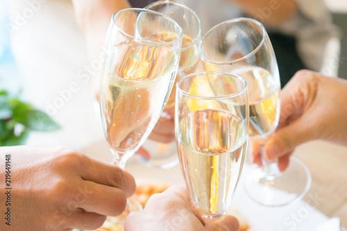 Fotografía  ホームパーティー シャンパン グラス