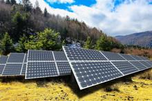 Solar Panels On The Mountain P...