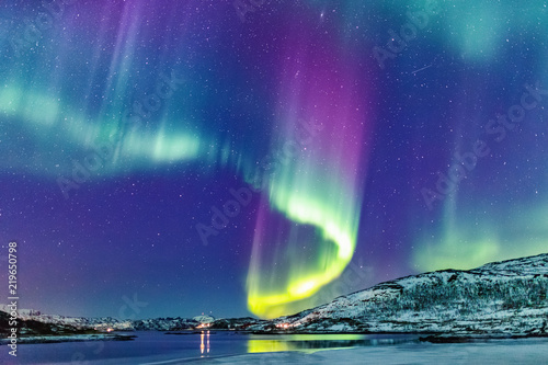 Printed kitchen splashbacks Northern lights Northern lights