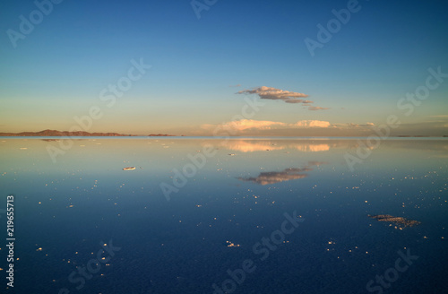 Spectacular View Of The Mirror Effect At Uyuni Salts Flats