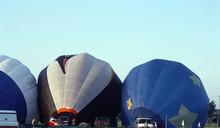 Hot Air Balloons Inflating And...