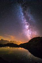 Milky Way And Starry Sky Over ...