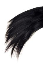 Closeup Strand Of Black Hair