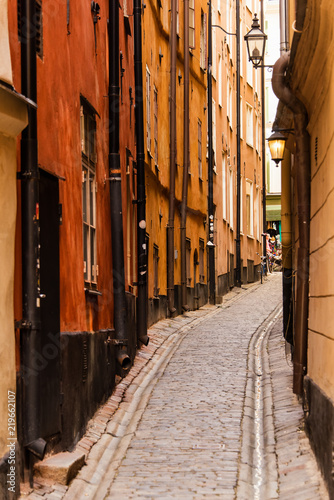 Stockholm. Sweden. Streets of great scandinavian city.