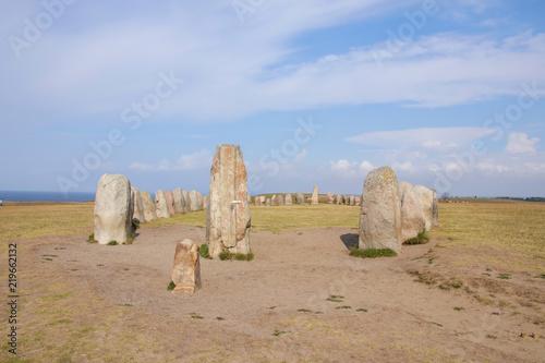 Fotografía  Ales stones, Ales stenar, Kåseberga, Ystad, Skåne, Sweden