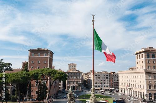 Piazza Venezia in Rome, Italy Canvas Print