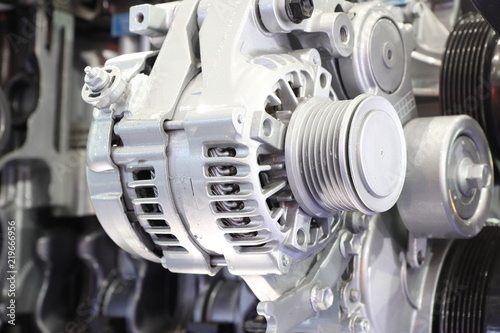 an alternator in engine to generate electric for vehicle Canvas Print