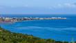 vue sur l'océan et le port