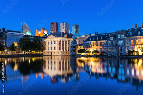the hague netherlands evening reflections Wallpaper Mural