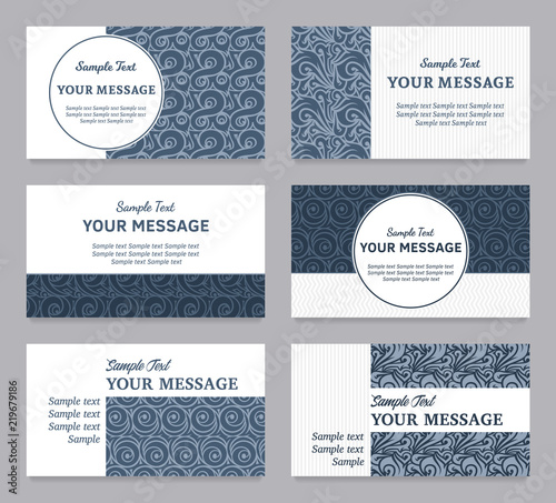 Fototapeta Vector Floral Vintage Invitations Business Cards Or Announcements