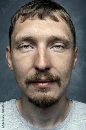 Fotografía  Face real man, close-up expression creativity portrait
