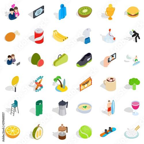 Fotografía  Vigorous icons set