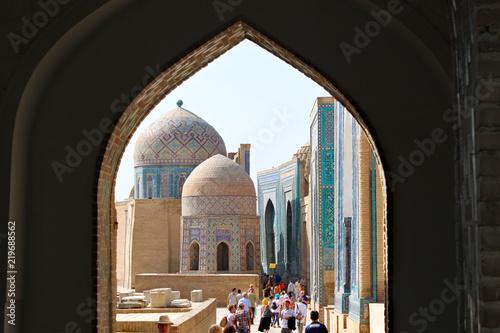 Fotografia  Shah-i-Zinda necropolis in Samarkand