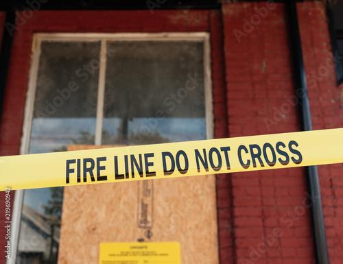 Photo Fire Line Do Not Cross Tape