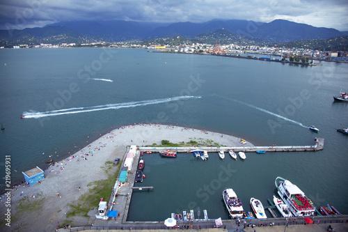 Tuinposter Dubai View of Batumi sea port