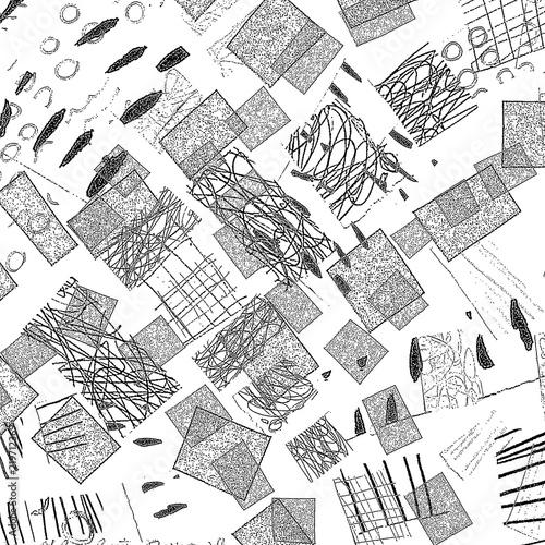 Printed kitchen splashbacks Newspapers Light Distressed Background. Ink Print Distress Background. Grunge Texture.