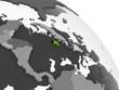Jamaica with flag on globe