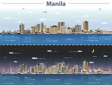 Vector Illustration Of Manila ...