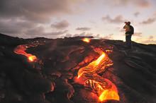 Kilauea Lava Flow, Big Island,...