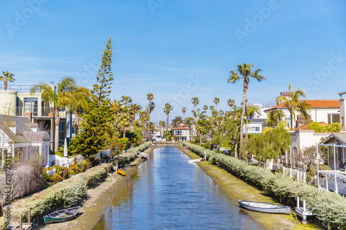 Fotografie, Obraz  Canals and Houses in Venice, Los Angeles, California