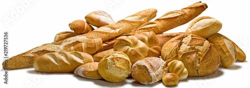 Carta da parati pães arranjo com pães