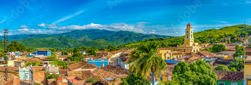 Fotografia, Obraz  Trinidad, Cuba: Aerial view of the former Saint Francis of Assisi Convent