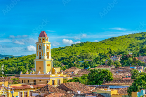 Trinidad, Cuba: Aerial view of the former Saint Francis of Assisi Convent Fototapeta