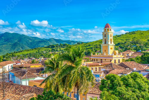 Trinidad, Cuba: Aerial view of the former Saint Francis of Assisi Convent Canvas Print