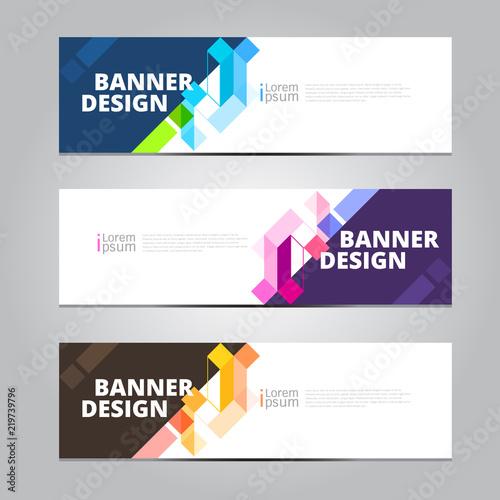 Fototapeta Vector abstract design banner web template. obraz