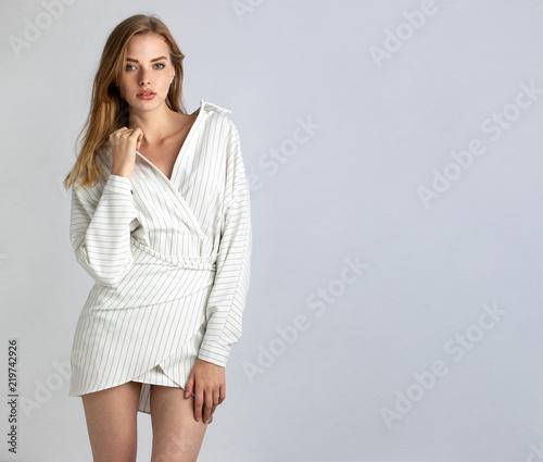 Fototapeta  young blonde in summer dress