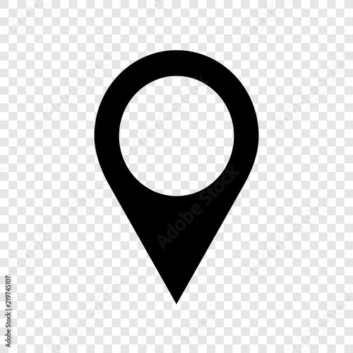 Location pointer icon on transparent background Wall mural
