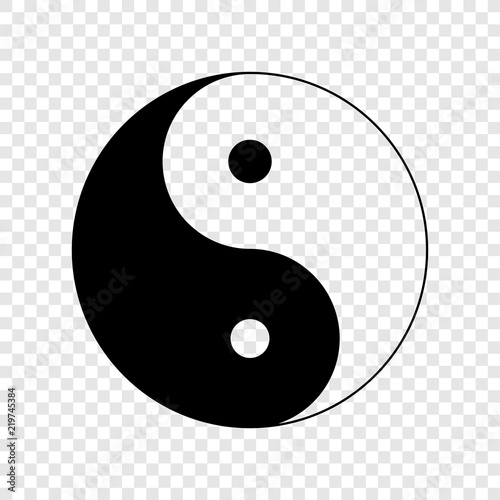 Fotografija  Yin yang icon on transparent background