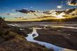 canvas print picture - Sunset in Olifant river landscape in Kruger National park, South Africa