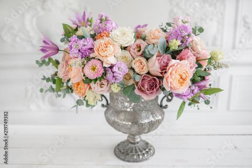 Fototapeta Gorgeous bouquet of different flowers