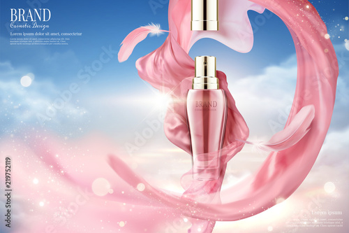 Fotografie, Obraz Cosmetic spray ads