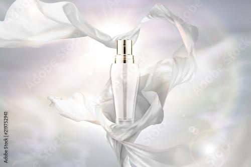 Fototapeta  White chiffon and spray bottle
