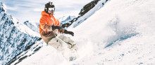 Winter Time In Alps And Free S...
