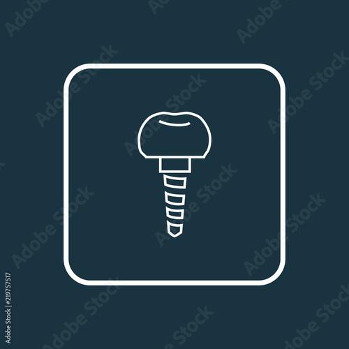 Photo Dental implant icon line symbol