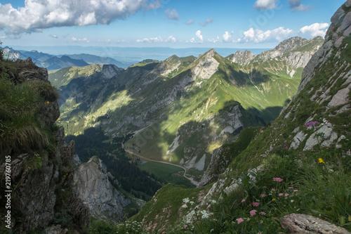 Montagne du Chablais depuis les Cornettes de Bise , alpes , Haute-Savoie Canvas Print