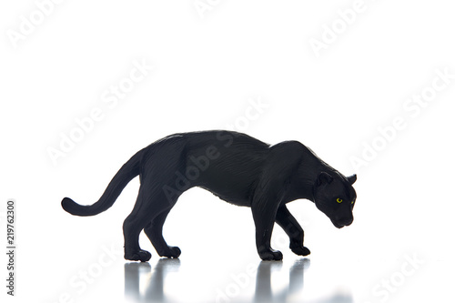 Photo Stands Panther Black panther portrait white background